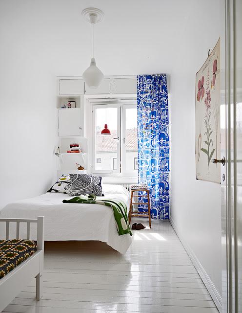 Marimekko 10 white cheerful splash of blue by stadshem