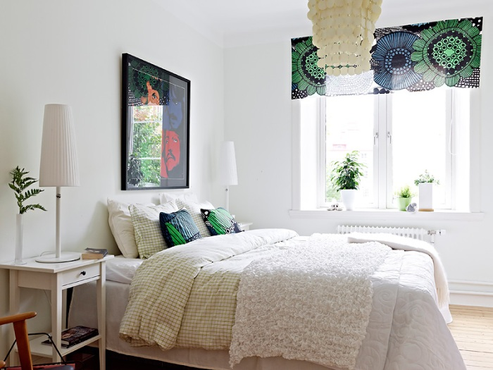 Marimekko bedroom with soul by stadshem