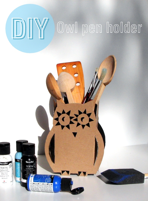 DIY: Owl Pen Holder / Sowa na długopisy